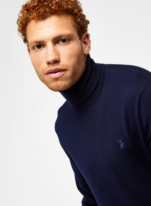 Vêtements Polo Ralph Lauren Sweat ML Pony Bleu vue face
