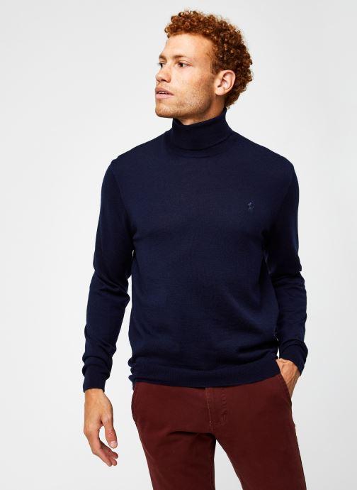 Vêtements Polo Ralph Lauren Sweat ML Pony Bleu vue droite