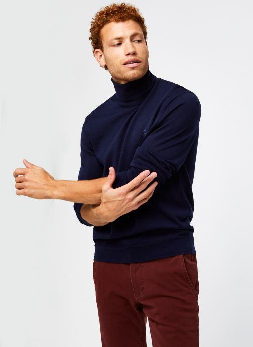 Vêtements Polo Ralph Lauren Sweat ML Pony Bleu vue détail/paire