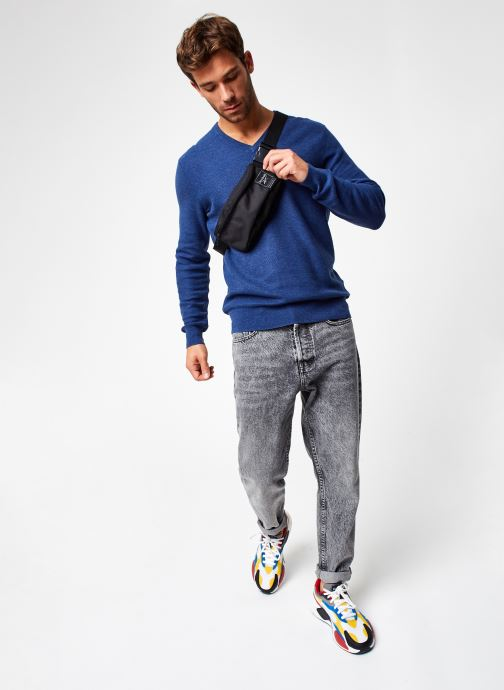 Vêtements Polo Ralph Lauren Sweat ML Pony 2 Bleu vue bas / vue portée sac