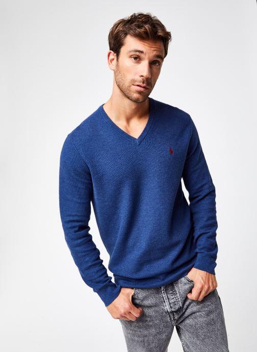 Vêtements Polo Ralph Lauren Sweat ML Pony 2 Bleu vue droite