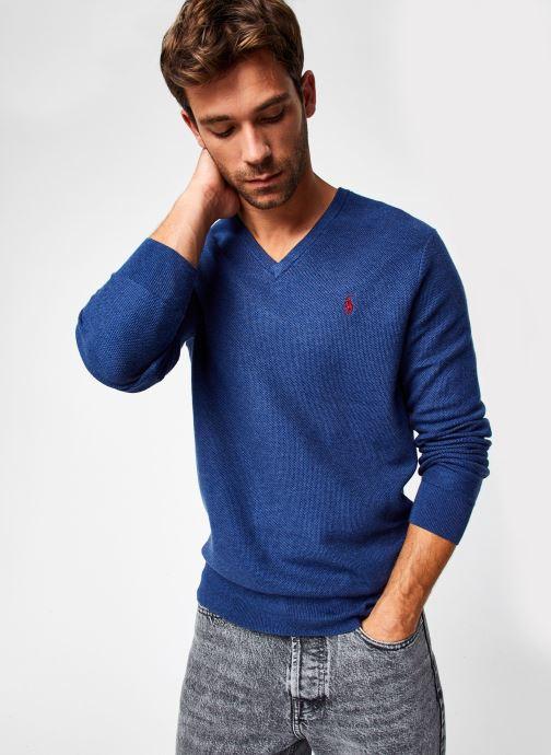 Vêtements Polo Ralph Lauren Sweat ML Pony 2 Bleu vue détail/paire