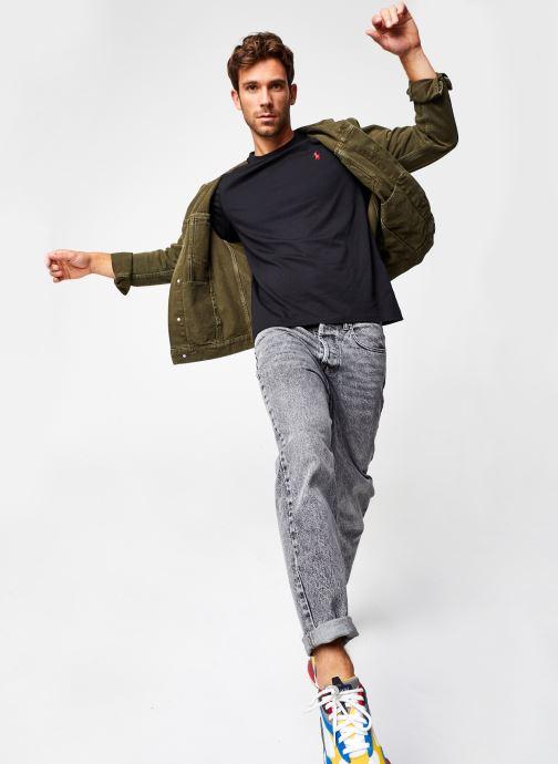 Vêtements Polo Ralph Lauren Tee-Shirt ML Pony Noir vue bas / vue portée sac