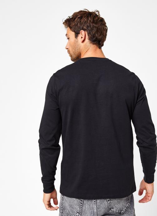 Vêtements Polo Ralph Lauren Tee-Shirt ML Pony Noir vue portées chaussures