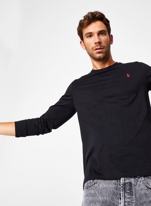 Vêtements Polo Ralph Lauren Tee-Shirt ML Pony Noir vue détail/paire