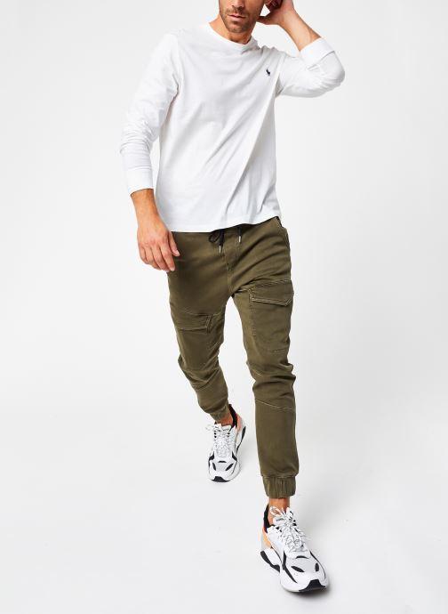 Vêtements Polo Ralph Lauren Tee-Shirt ML Pony Blanc vue bas / vue portée sac