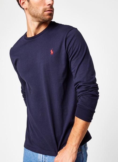 Vêtements Polo Ralph Lauren Tee-Shirt ML Pony Bleu vue détail/paire