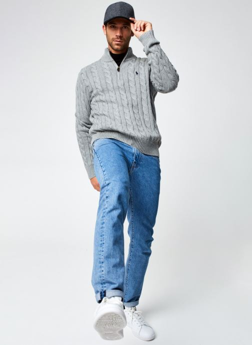 Vêtements Polo Ralph Lauren Sweatshirt ML Drive Pony Gris vue bas / vue portée sac