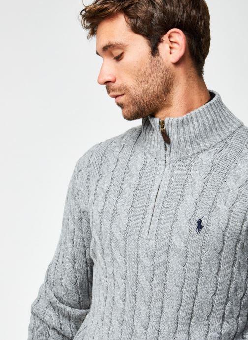 Vêtements Polo Ralph Lauren Sweatshirt ML Drive Pony Gris vue face