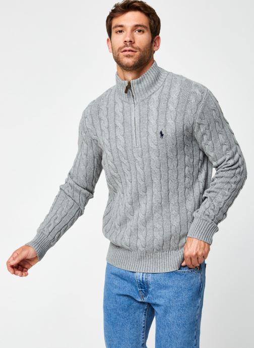 Vêtements Polo Ralph Lauren Sweatshirt ML Drive Pony Gris vue droite