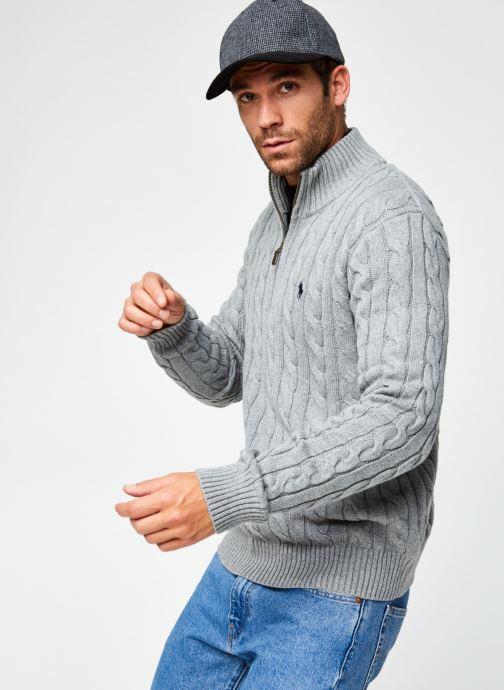 Vêtements Polo Ralph Lauren Sweatshirt ML Drive Pony Gris vue détail/paire