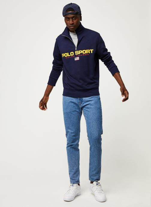 Vêtements Polo Ralph Lauren Sweatshirt ML Zip Pony Bleu vue bas / vue portée sac