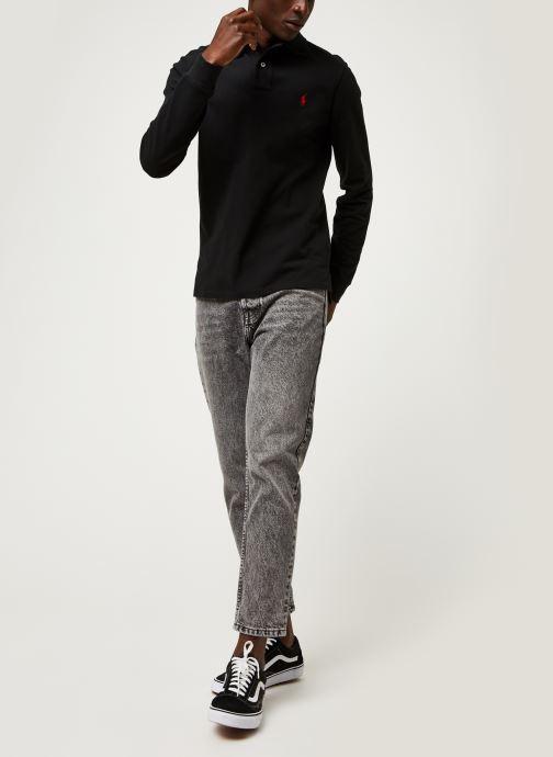 Vêtements Polo Ralph Lauren Pull ML Slim Pony Noir vue bas / vue portée sac