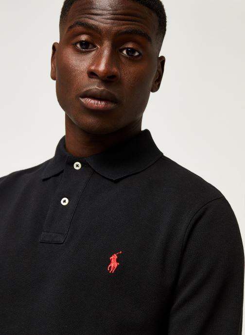 Vêtements Polo Ralph Lauren Pull ML Slim Pony Noir vue face