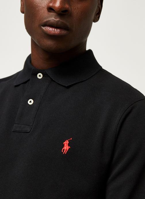 Vêtements Polo Ralph Lauren Pull ML Slim Pony Noir vue face