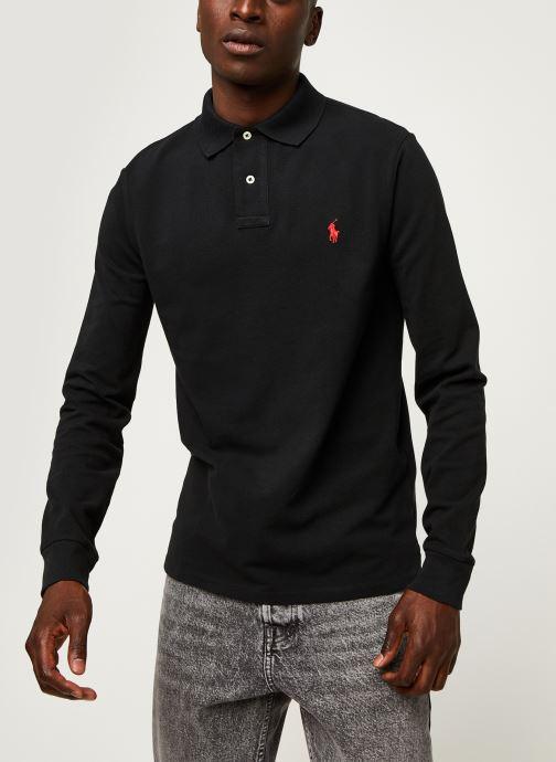 Vêtements Polo Ralph Lauren Pull ML Slim Pony Noir vue droite