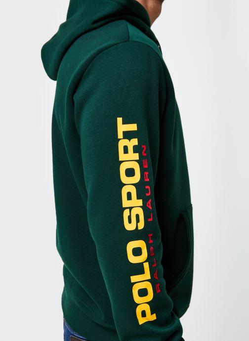 Vêtements Polo Ralph Lauren Sweatshirt Hoody ML Pony Vert vue face