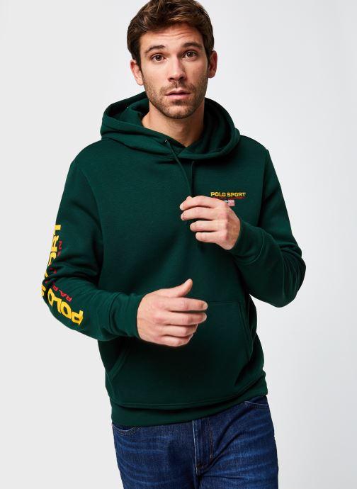 Vêtements Polo Ralph Lauren Sweatshirt Hoody ML Pony Vert vue droite