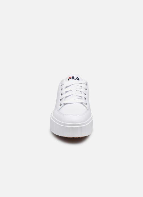 Sneaker FILA Sandblast L W weiß schuhe getragen