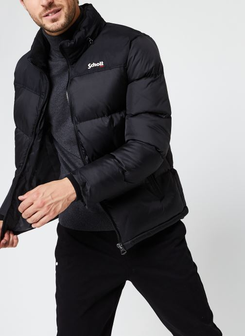 Vêtements Schott Utah Doudoune M Noir vue détail/paire