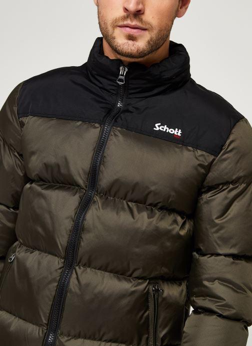 Vêtements Schott Utah Doudoune M Vert vue face