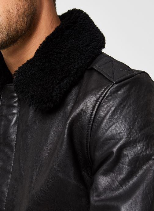 Vêtements Schott Lcpilotvint Veste Aviateur Noir vue face