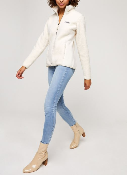 Vêtements Columbia Panorama Full Zip Blanc vue bas / vue portée sac