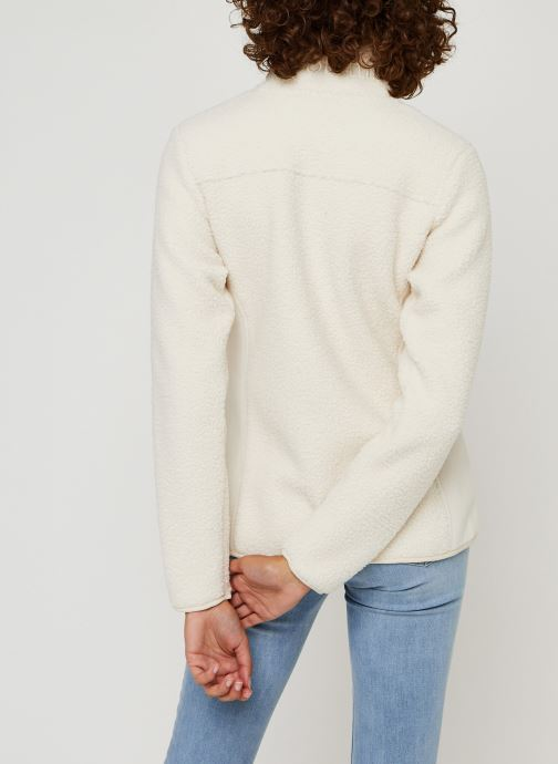 Vêtements Columbia Panorama Full Zip Blanc vue portées chaussures