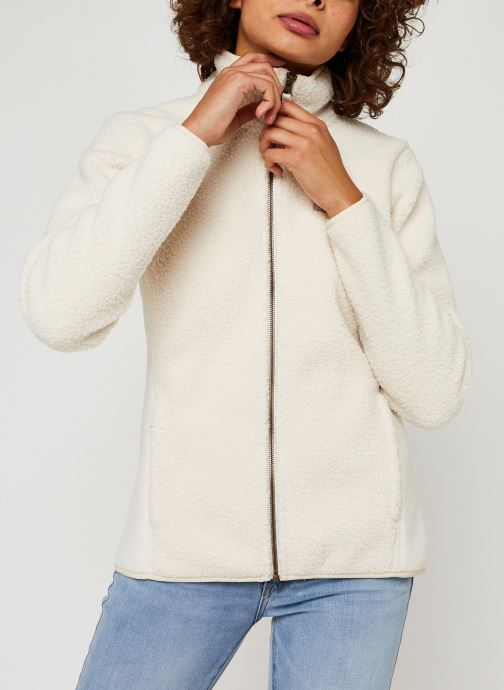 Vêtements Columbia Panorama Full Zip Blanc vue droite