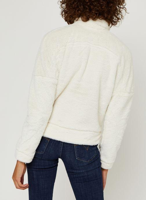 Vêtements Columbia Bundle Up Full Zip Fleece Blanc vue portées chaussures