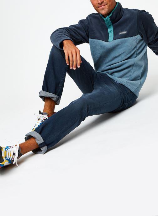 Vêtements Columbia Steens Mountain Half Snap Bleu vue bas / vue portée sac