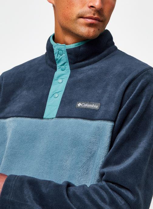 Vêtements Columbia Steens Mountain Half Snap Bleu vue face