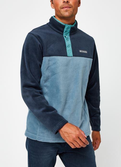 Vêtements Columbia Steens Mountain Half Snap Bleu vue droite