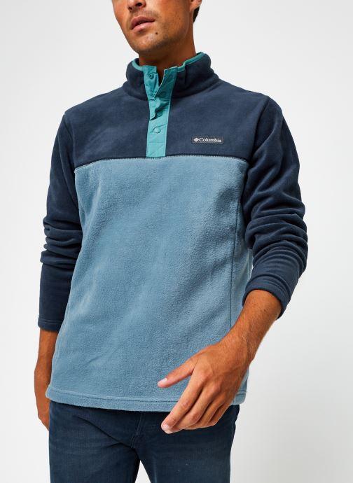 Vêtements Columbia Steens Mountain Half Snap Bleu vue détail/paire
