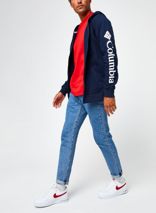 Vêtements Columbia M Columbia Logo Fleece Full Zip Bleu vue bas / vue portée sac