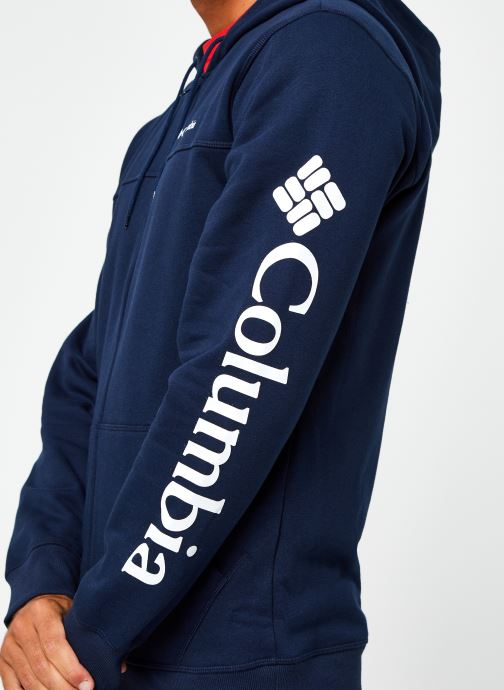 Vêtements Columbia M Columbia Logo Fleece Full Zip Bleu vue face