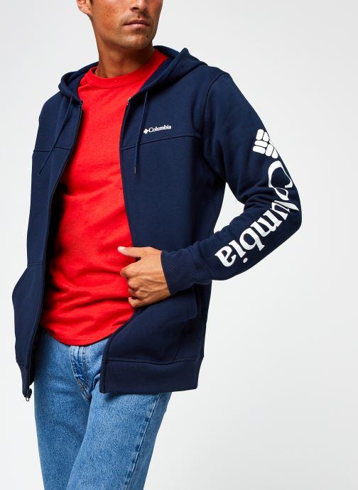 Vêtements Columbia M Columbia Logo Fleece Full Zip Bleu vue détail/paire