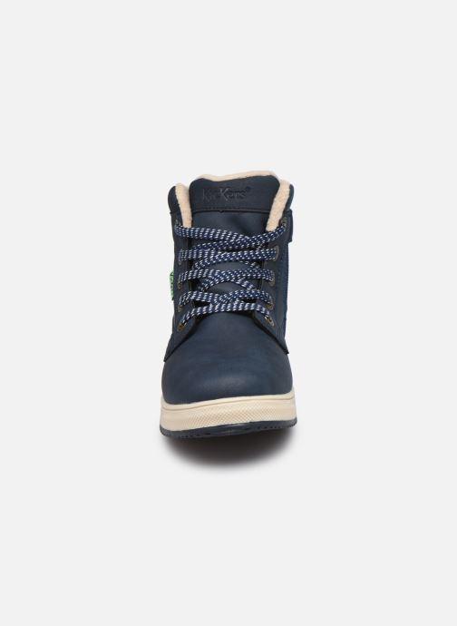 Baskets Kickers Yepo WPF Bleu vue portées chaussures