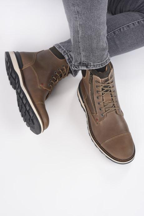 Bottines et boots Mr SARENZA Silvano Marron vue bas / vue portée sac