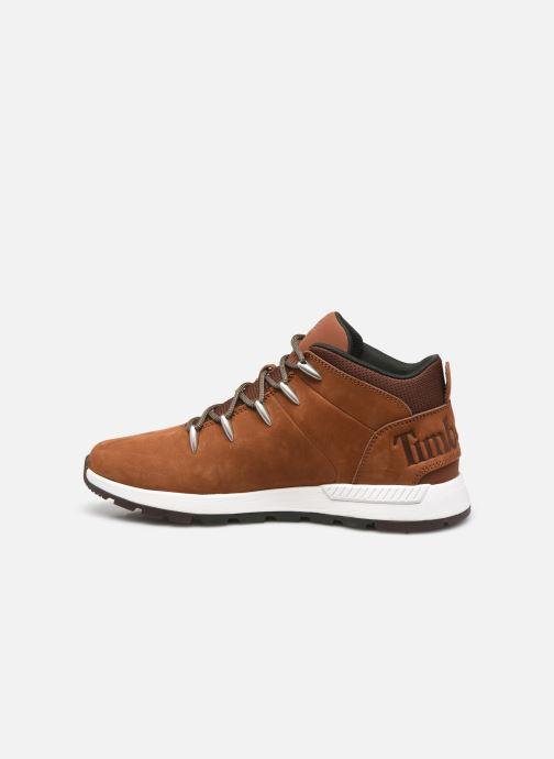 Sneaker Timberland Sprint Trekker Mid braun ansicht von vorne