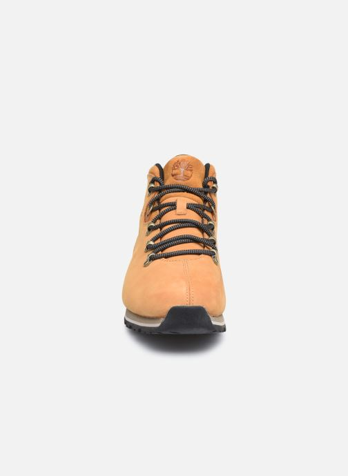 Sneaker Timberland Splitrock 3 beige schuhe getragen