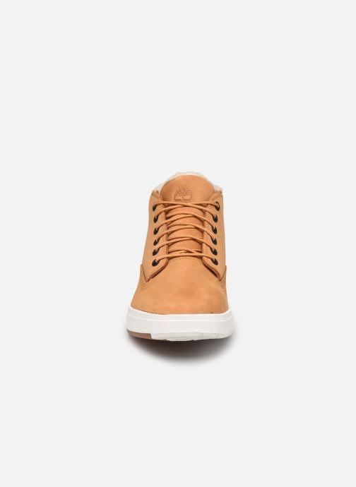 Stiefeletten & Boots Timberland Davis Square WP WL Chk braun schuhe getragen