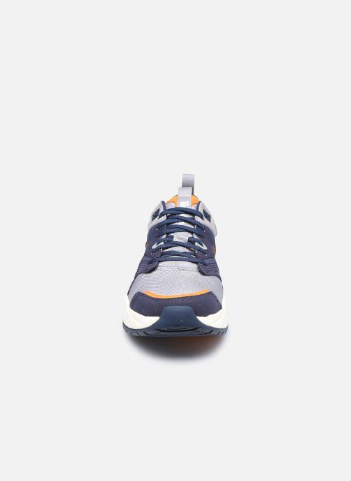 Sneakers Timberland Tree Racer Textile Sneak Azzurro modello indossato