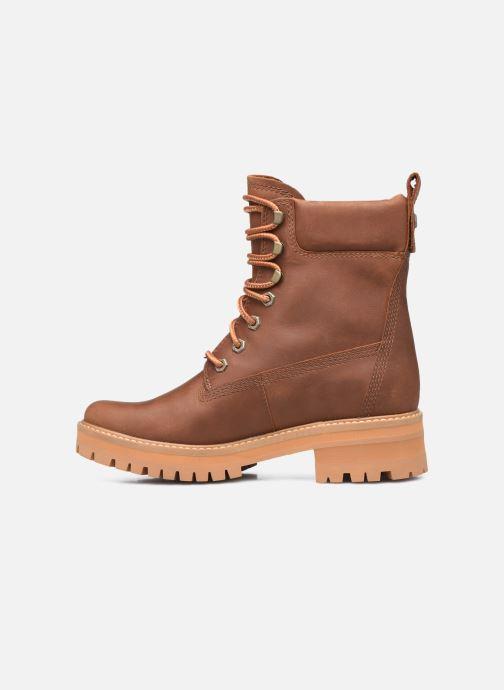 Boots en enkellaarsjes Timberland Courma ValleyYBoot EK+ WP Bruin voorkant