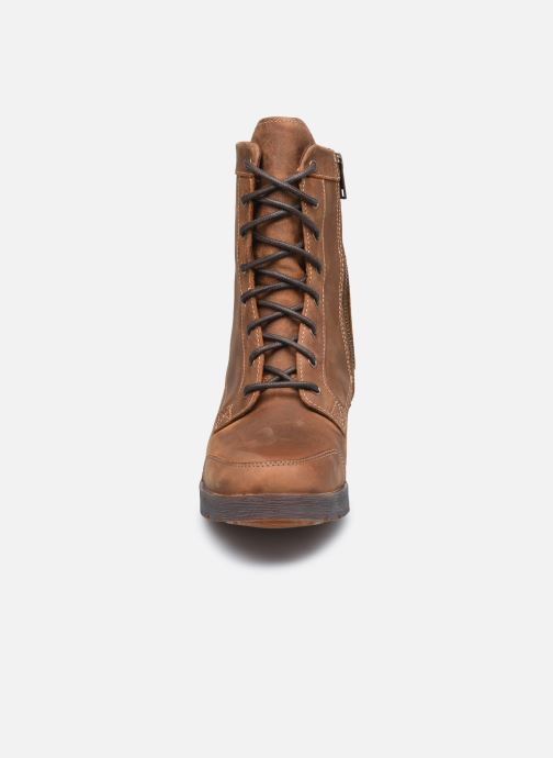 Stiefeletten & Boots Timberland GraceynMidLaceUpWP braun schuhe getragen