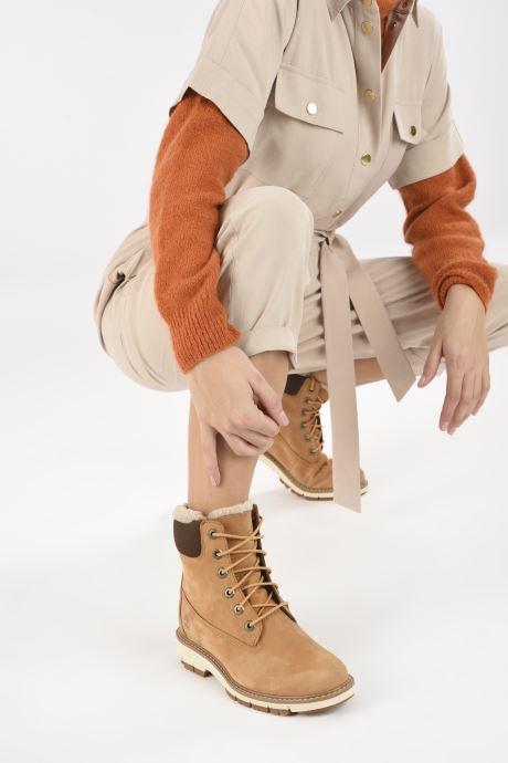 Stiefeletten & Boots Timberland Lucia6inWarmLinedBootWP braun ansicht von unten / tasche getragen