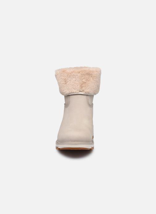 Stiefeletten & Boots Timberland LuciaPullOnFauxFurFDWP grau schuhe getragen