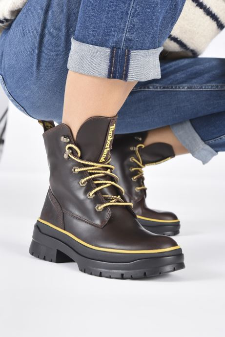 Stiefeletten & Boots Timberland Malynn Mid Lace EK+ WP braun ansicht von unten / tasche getragen