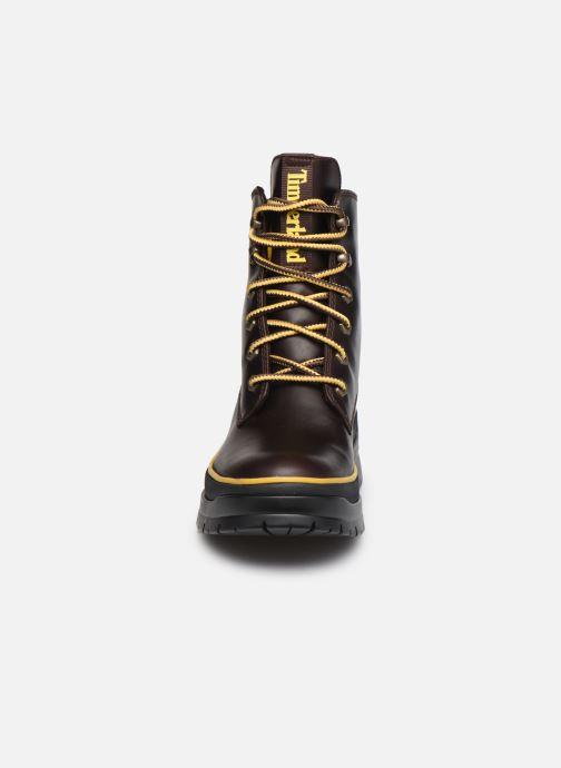 Stiefeletten & Boots Timberland Malynn Mid Lace EK+ WP braun schuhe getragen
