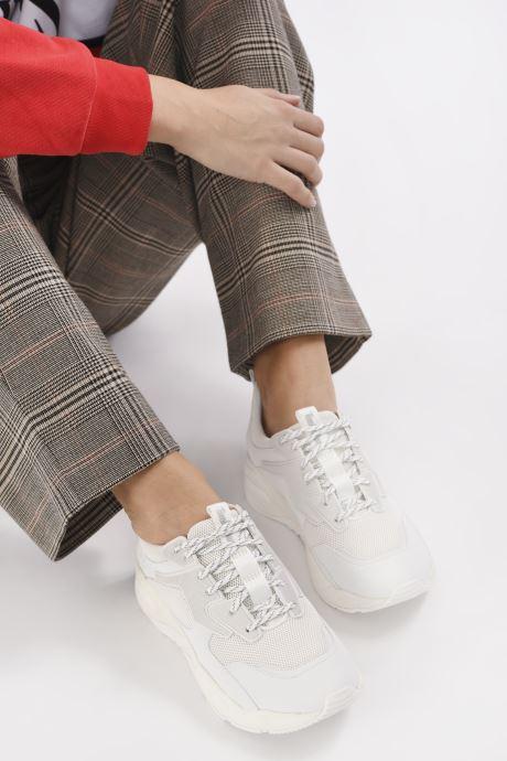 Sneaker Timberland DelphivilleTextileSneaker weiß ansicht von unten / tasche getragen